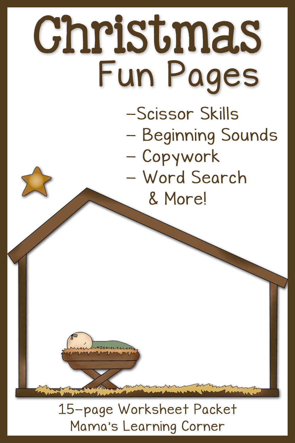 Christmas Fun Pages: Free 15-page Worksheet Set - Mamas Learning Corner