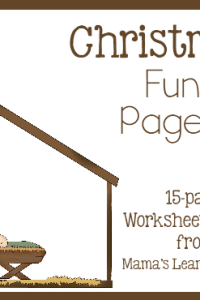 Christmas Fun Pages: Free 15-page Worksheet Set