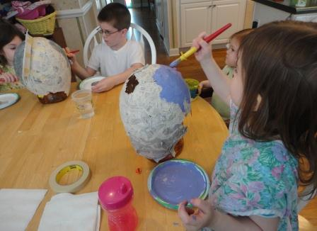 Papier Mache Roman Helmets