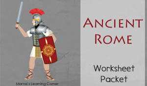 Ancient Rome Worksheets for 1st-3rd Graders