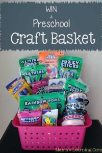 Preschool Craft Basket Giveaway!