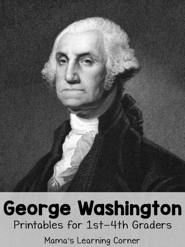 George Washington Worksheets for 1st through 4th Graders
