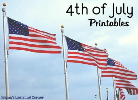 4th of July Worksheets and Printables from Mama's Learning Corner