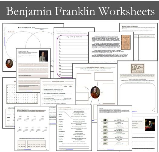 Benjamin Franklin Worksheets for Kids