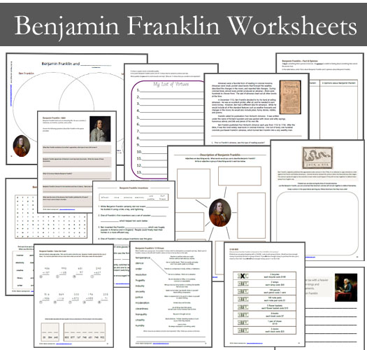 Benjamin Franklin Worksheets for Kids