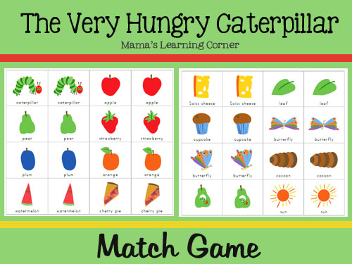 photograph relating to The Very Hungry Caterpillar Story Printable identified as The Incredibly Hungry Caterpillar Recreation Video game - Mamas Understanding Corner