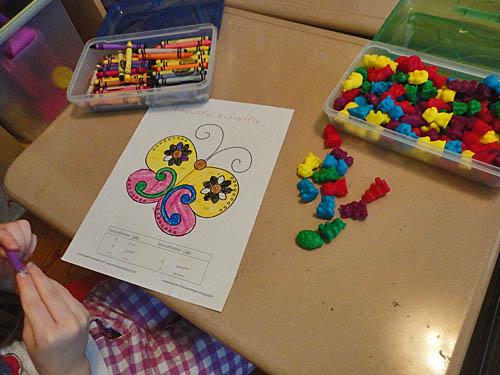 Color By Number worksheet First Grade