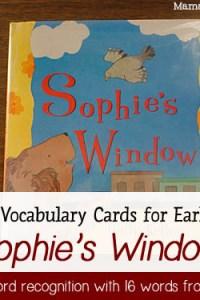 Book of the Week: Sophie's Window