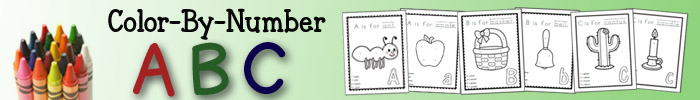 Color By Number ABC - 50+ printable coloring pages for each letter of the alphabet