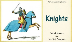 12-page Knight Worksheet Packet for 1st-3rd graders