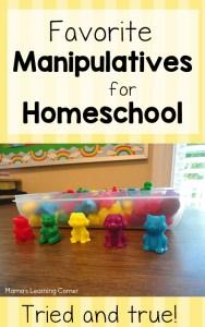 Mama's Favorite Homeschool Manipulatives