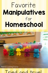 Homeschool Manipulatives for Young Learners