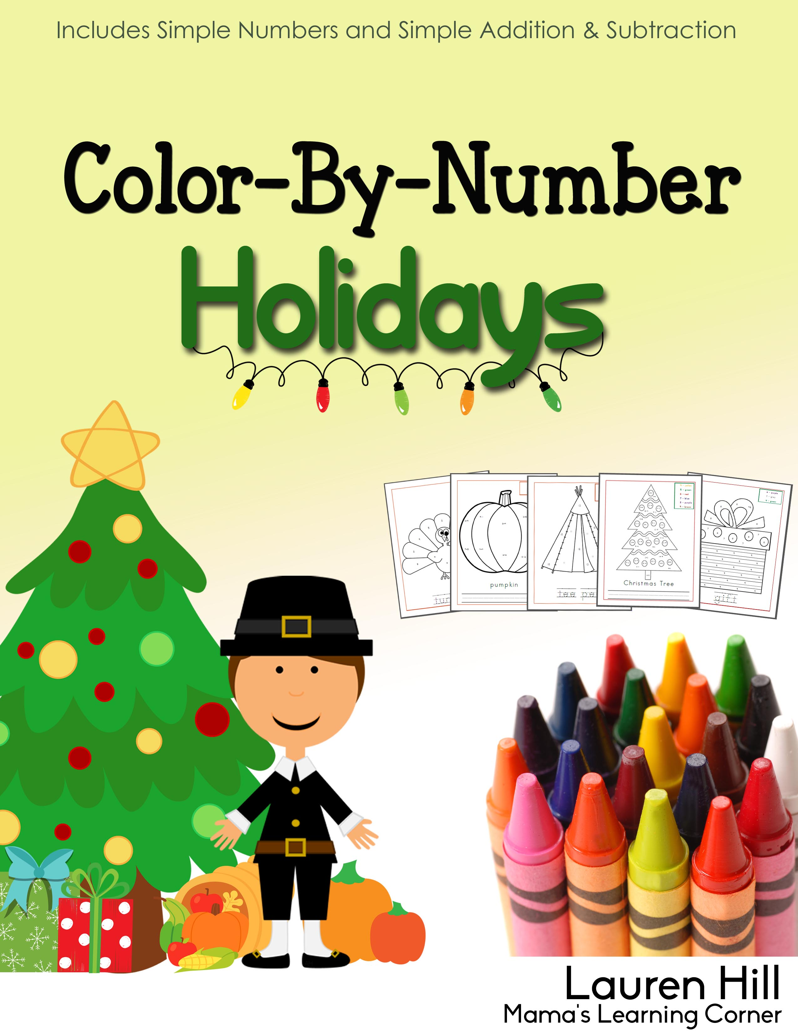 Color By Number Holidays Edition