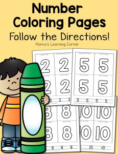 Free Number Coloring Pages