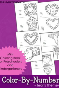 Color By Number Worksheets: Heart Themed!