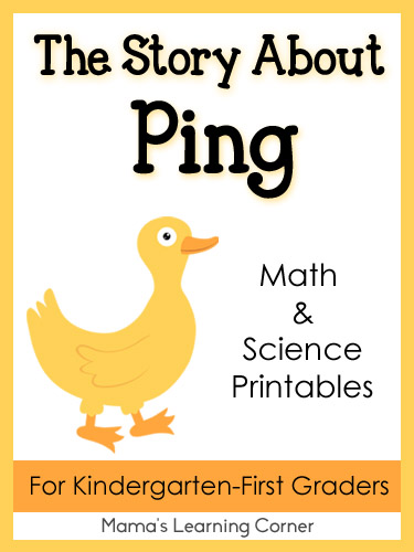 The Story About Ping - Math and Science Printables for Kindergarten - First Graders