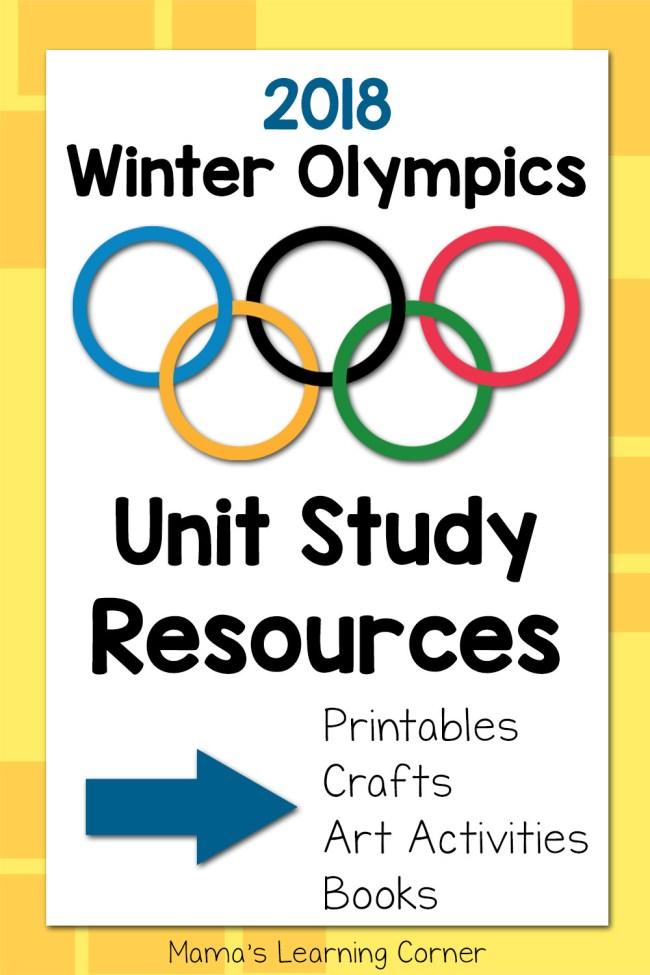 Winter Olympics Unit Study Helps