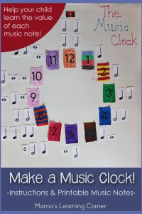 Make a Music Clock with Free Printable Music Notes!