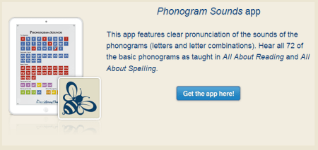 Phonogram Sounds App from All About Reading