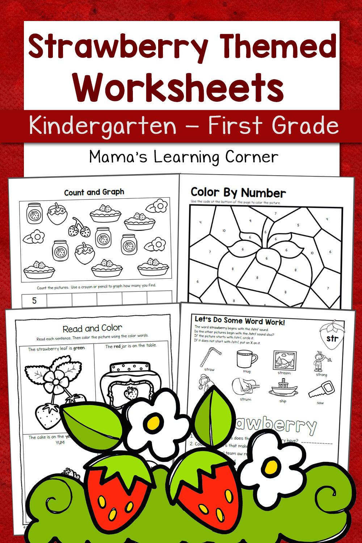 Strawberry Worksheets for Kindergarten-First Grade - Mamas ...