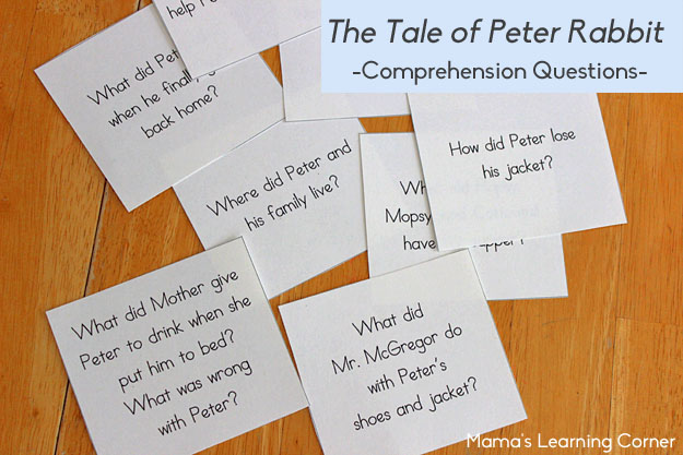 The Tale of Peter Rabbit Comprehension Questions