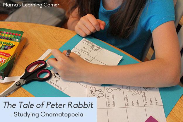 The Tale of Peter Rabbit Studying Onomatopoeia
