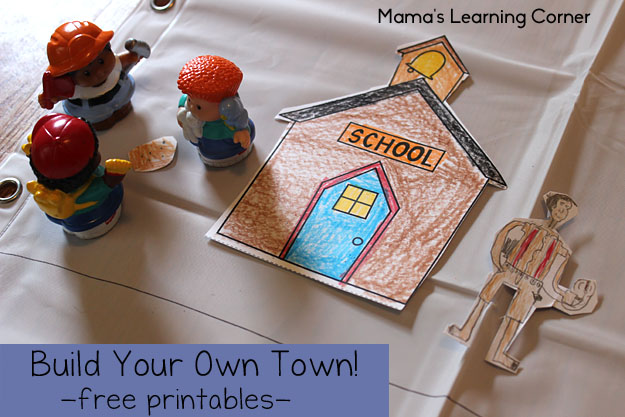 Build Your Own Town - Free Printables!