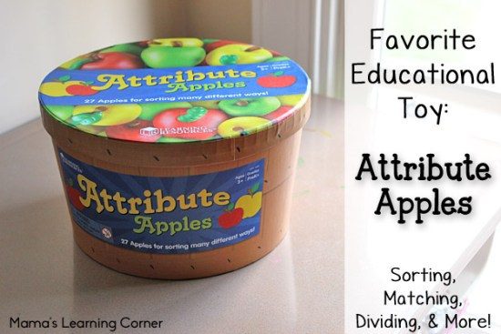 Attribute Apples: one of our favorite educational toys!
