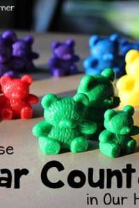 Using Bear Counters in Our Homeschool