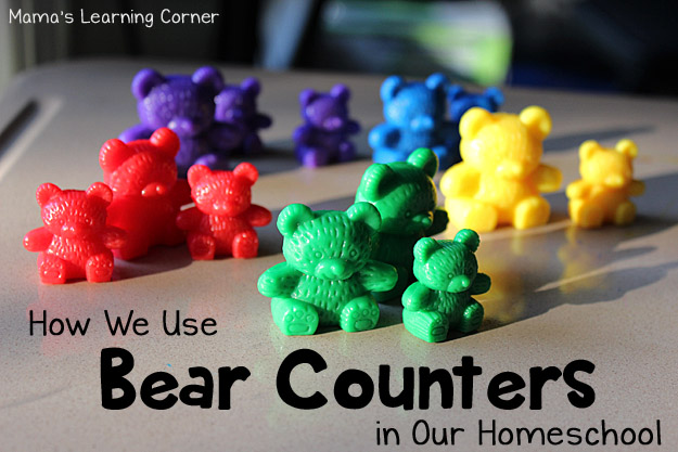 Bear Counters: How we Use them in Our Homeschool