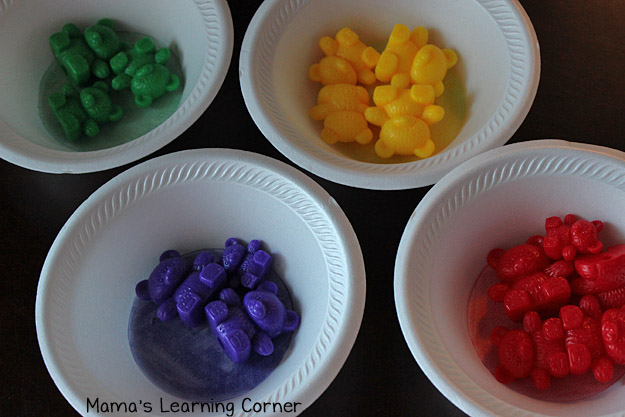 Bear Counters: Sort in Color Bowls