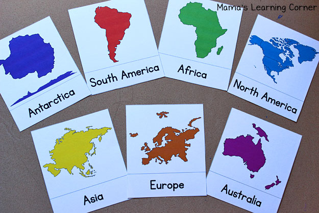 photograph about Printable Continents named Find out the Continents: Totally free Printable! - Mamas Discovering Corner