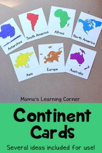 Learn the Continents: Free Printable!