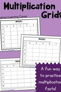 Multiplication Grids – Fun way to practice math facts!