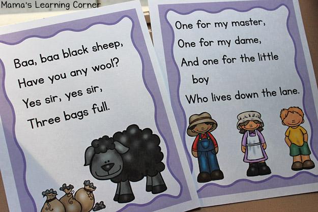Nursery Rhymes Baa Baa Black Sheep Posters