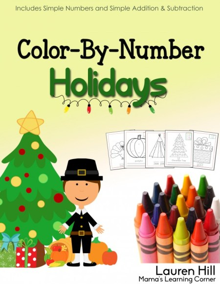 Color By Number Holidays