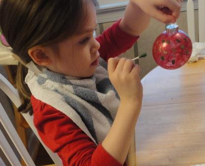 Painted Christmas Ornament Craft