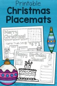 Printable Christmas Placemats