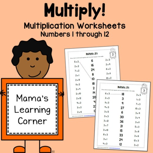Multiply Worksheets: 1 through 12