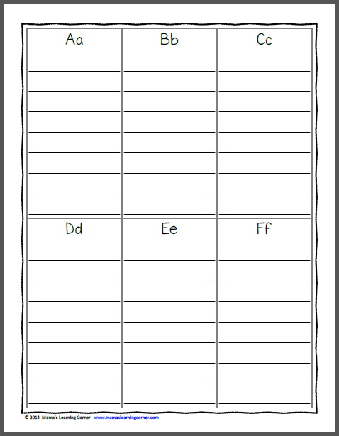 File Folder Personal Spelling Dictionary