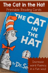 Increase Reading Fluency with The Cat in the Hat Reading Cards!