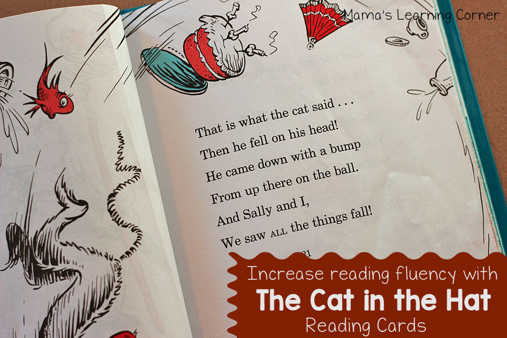 The Cat in the Hat Reading Fluency Cards