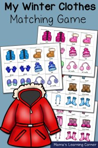 Winter Clothes Matching Game
