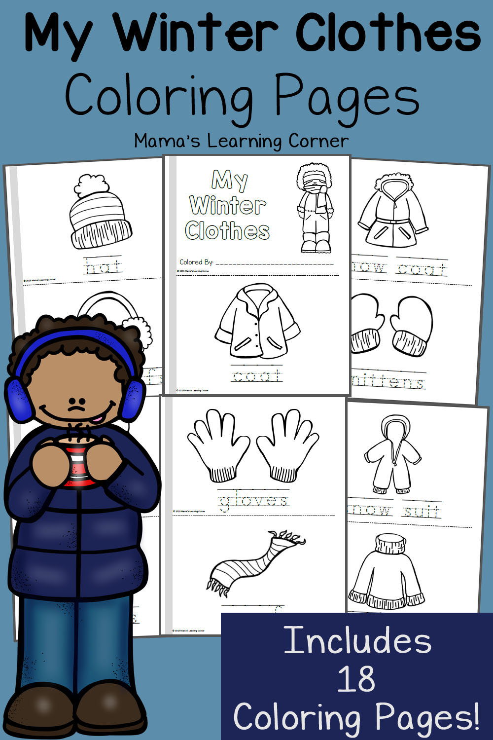 Winter Coloring Pages - Mamas Learning Corner | coloring pages for kindergarten