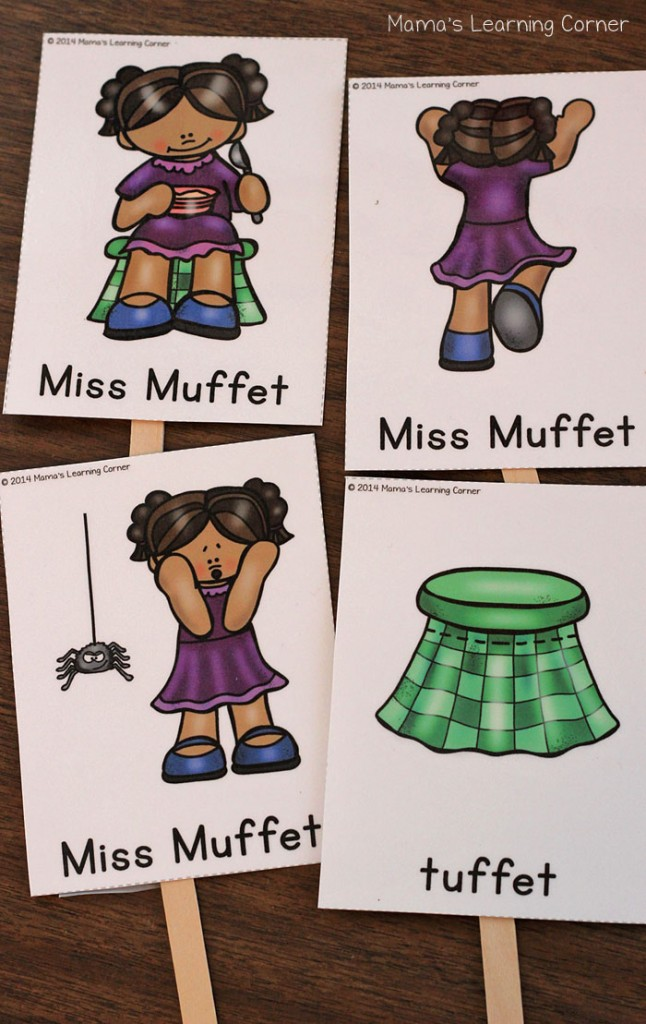 Little Miss Muffet Sequencing Cards