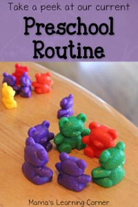 Take a Peek at Our Current Homeschool Preschool Routine!