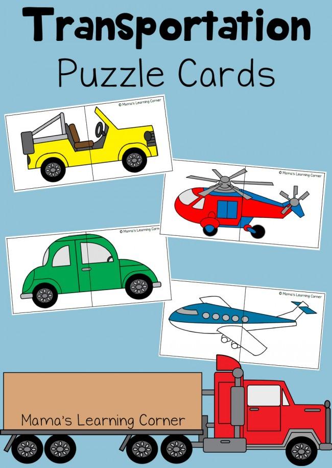 Transportation Puzzle Cards