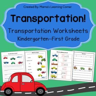 Transportation Worksheets