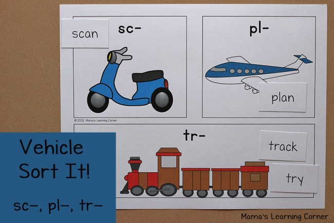 Transportation Worksheets Sorting Mat