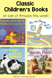 This Week's Children's Books on Sale: Alexander, Sarah, Plain and Tall and More!
